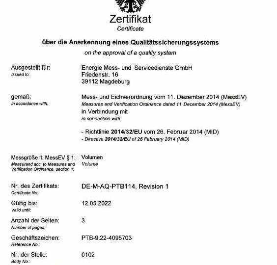 MID-Zertifikat